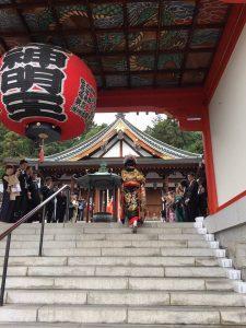 門戸厄神 東光寺にて結婚の儀を仏式にて執り行いました。画像1